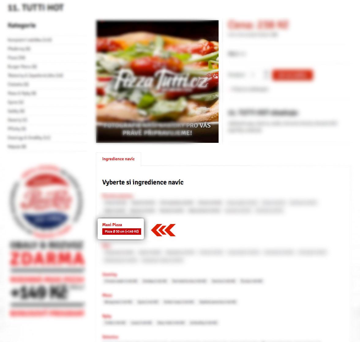 Jak objednat Maxi Pizzu?